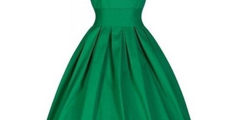 Green Vintage Retro Tea Party Dress