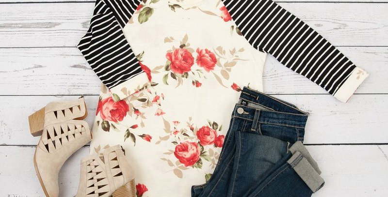 White Blossom Floral Casual Top
