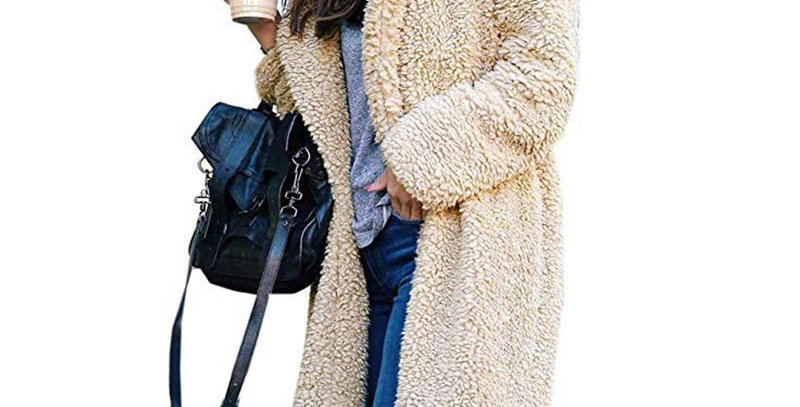 4 x Colours Long Fleece Winter  Coat
