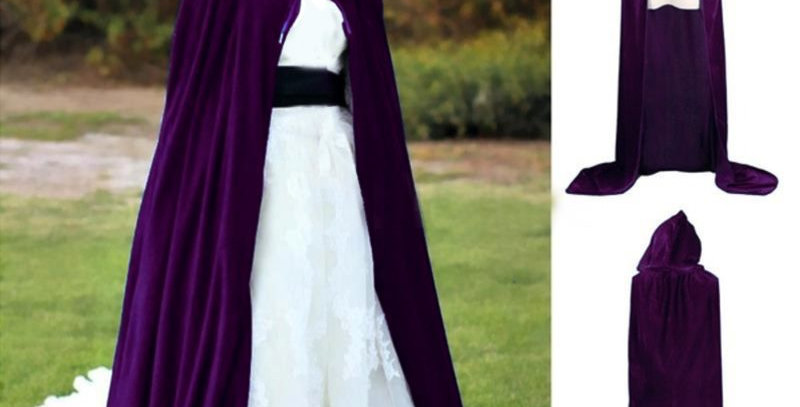 Purple Velvet Halloween Cloak