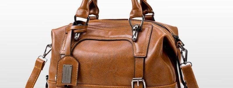 Vintage Tan Oil Waxing Tote Bag