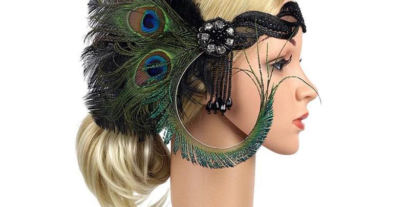 1920s Great Gatsby Headpiece Feather Flapper Headband