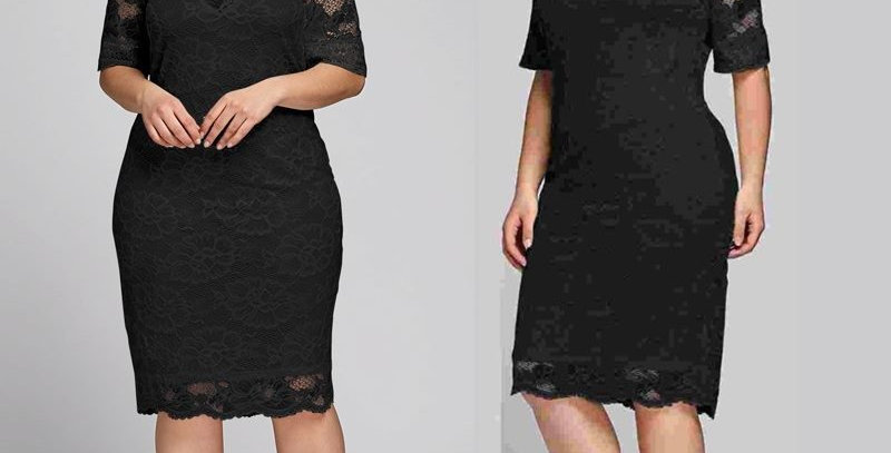 Black Boho Crochet Floral Lace Boutique Party Dress