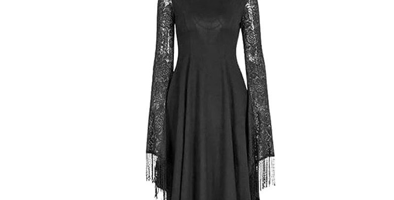 Spider Web Hollow Back Lace Insert Cloak