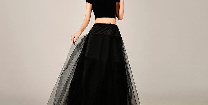 Black 3 Layer Bridal  Underskirt