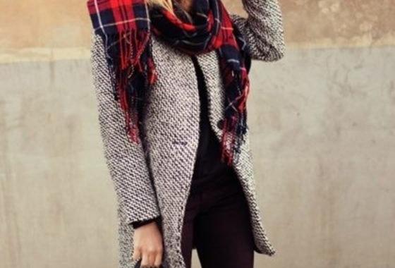 Long Sleeve Oversize Houndstooth Coat