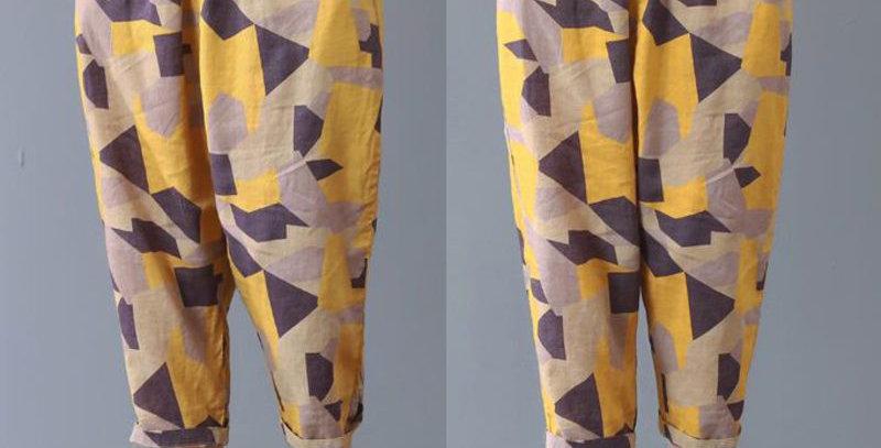 Linen Cropped Women's Pant's