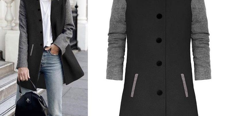 Gorgeous Black & Grey 2 Tone Coat