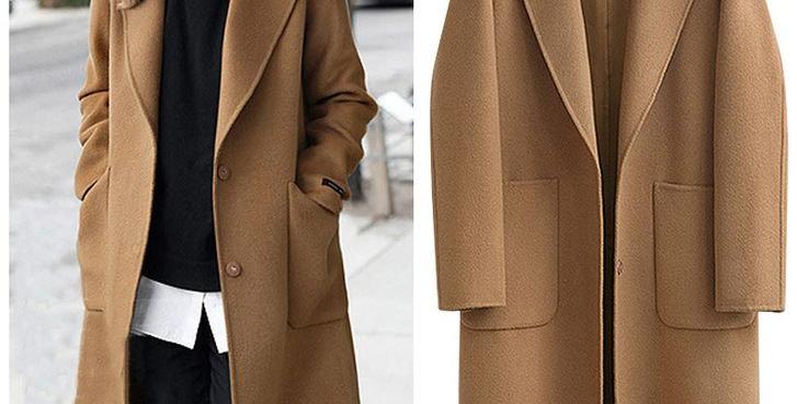 Camel Warm Winter Wool Coat Blazer