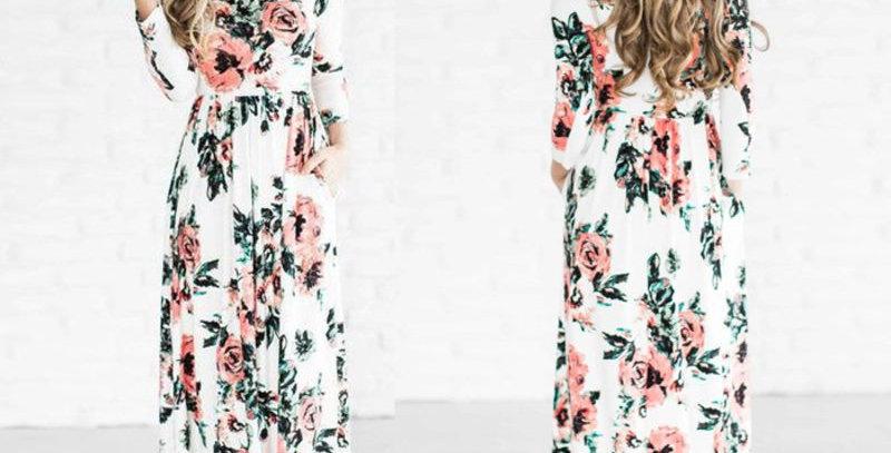 Floral Boutique Maxi Long Dress