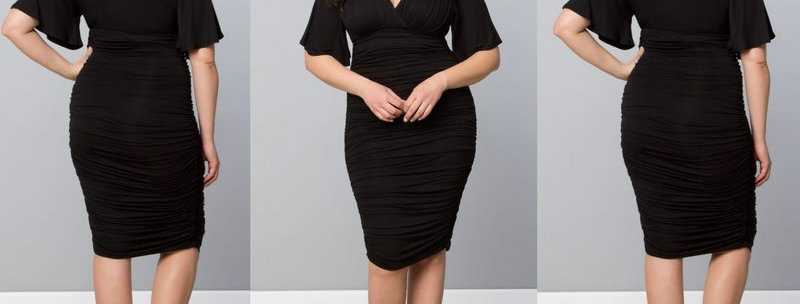 Smart Looking Black Bodycon Fitted Dress