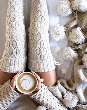 Cream Knit Stockings