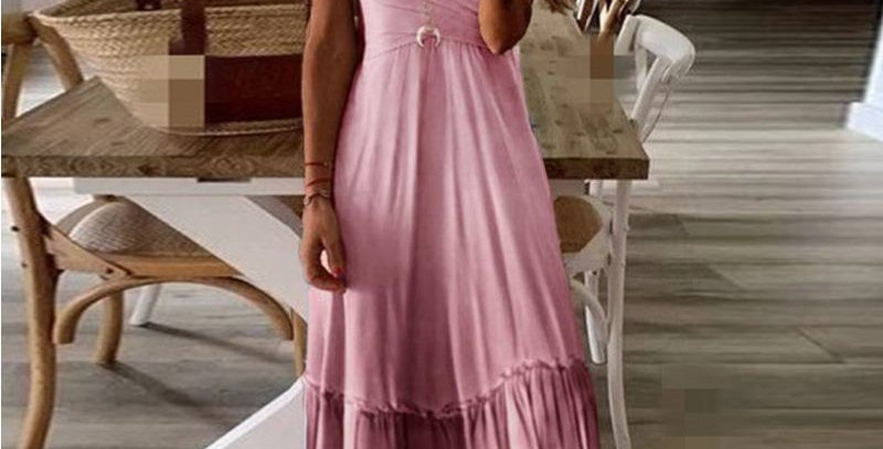 Sleeveless Maxi Dress Tunic Holiday Dress