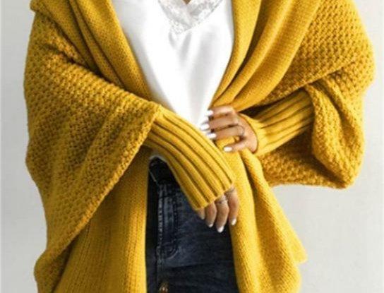 Gorgeous Mustard Yellow Kimono Open Front Cardigan