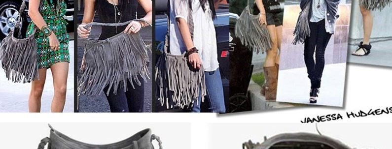 Grey Bohemian ringed Tassel Faux Suede Shoulder Tote