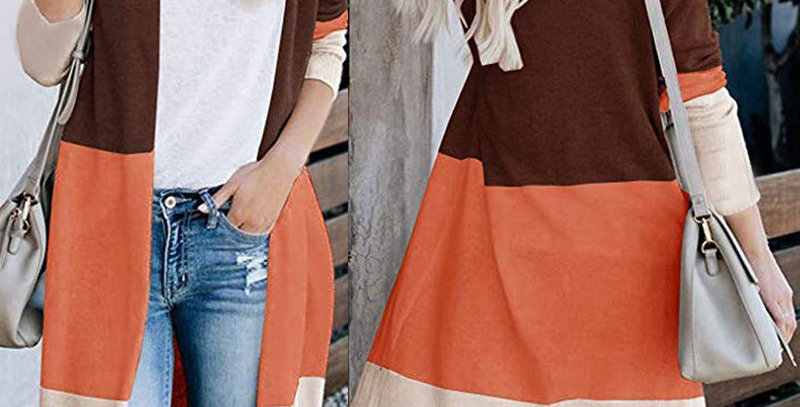 Gorgeous 3 Tone Long Sleeve Cardigan