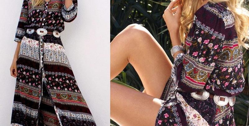 Paisley Floral Goddess Hippie Dress