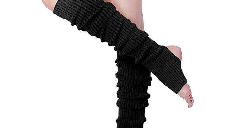 Black 1980s Culture Inspired Leg Warmers