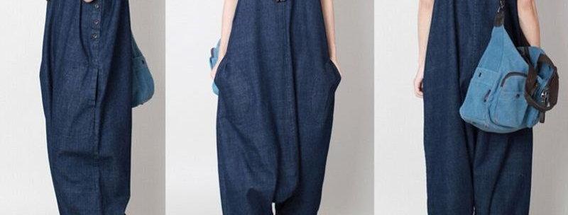 Oversize Baggy Harem Jumpsuit Jeans