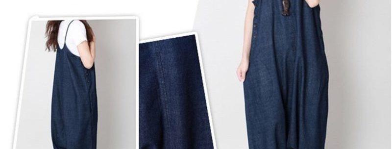 Blue Denim Oversize Baggy Harem Pants