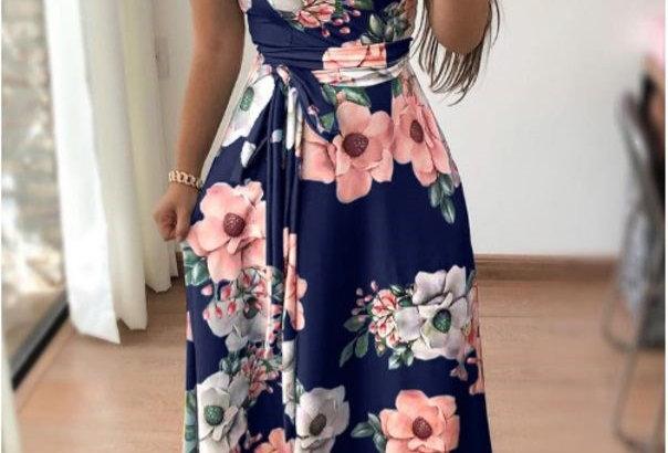 Blossom Floral Tie Waist Boutique Dress