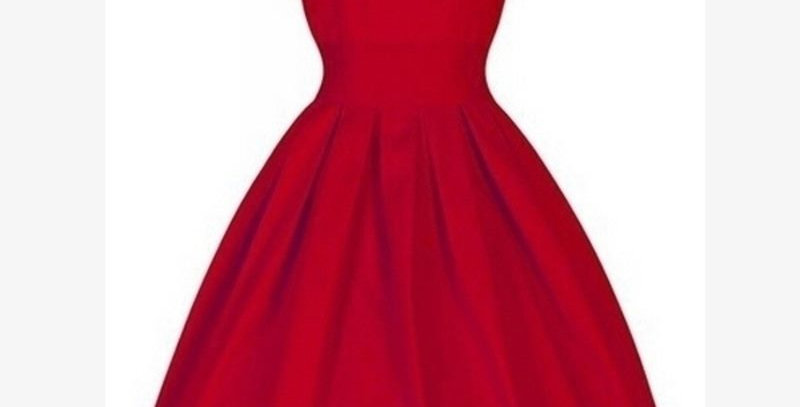 Red Vintage Retro Tea Party Dress