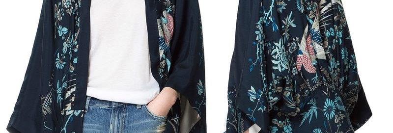 Midnight Blue Kimono