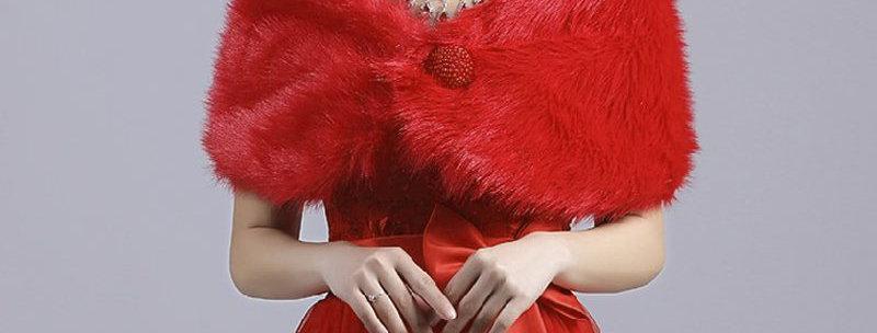 Blood Red Shrug Bolero Coat