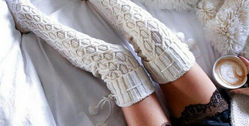 Cream Knit Stockings