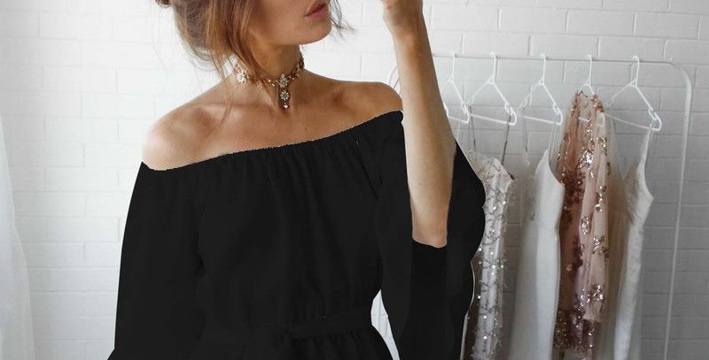 Off Shoulder Ruffle Sleeves Boutique Blouse