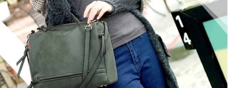 Green Convertible Tote Bag