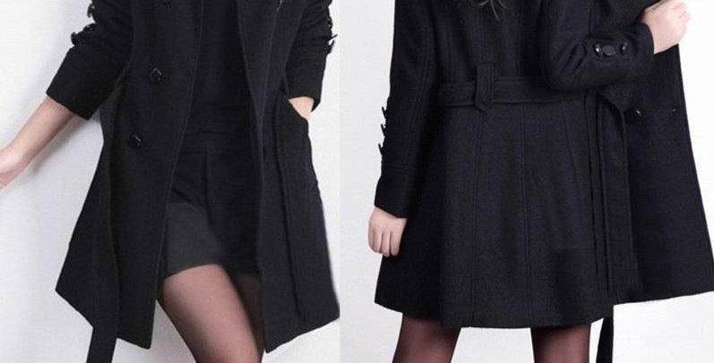 Black Double Breast Winter Jacket