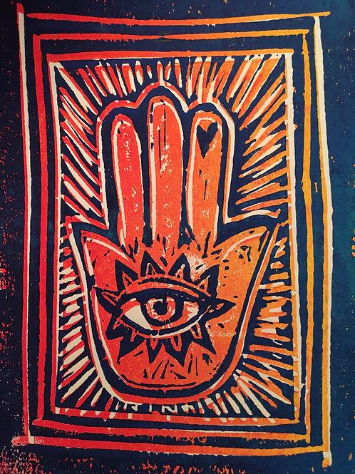 Hamsa Hand prints