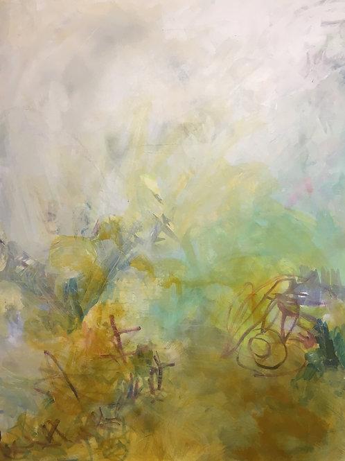 "SOLD Ochre, 48 x 64"" acrylic on canvas"