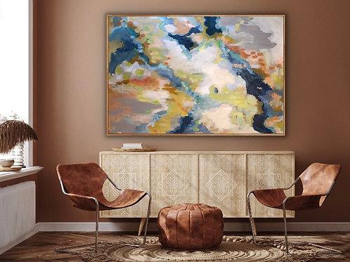 Snow, Ground, H20: 40x60x1.5 acrylic on canvas