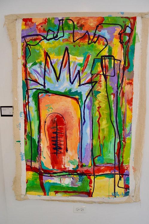 1996, acrylic on canvas, 48 x 60