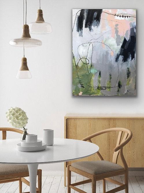 Elephant, 36x48x1.5 acrylic on canvas
