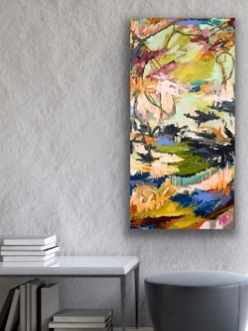 AVAILABLE Tapestry, 24x48x1.5 acrylic on canvas