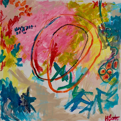 Circle, acrylic on canvas, 36 x 36