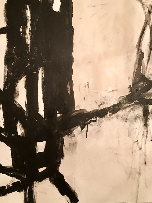 Black and White 1, 48 x 60, acrylic on canvas