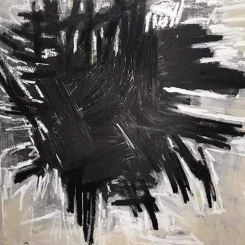AVAILABLE Kunst 36 x 36 x 1.5 acrylic and oil stick on canvas
