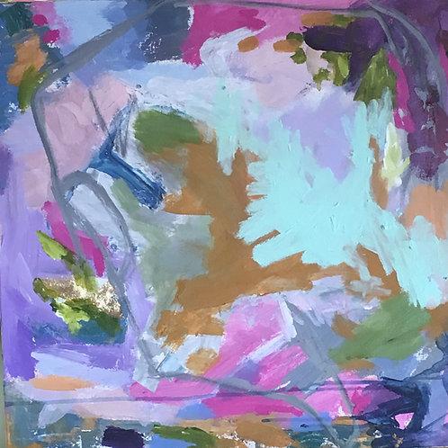 """Vibrant 5/18/19, 24 x 24"""" acrylic on canvas"""