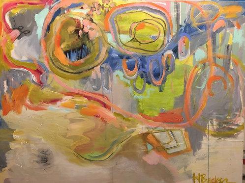 """Mellow Vibrant, 30 x 40"""", acrylic on canvas"""