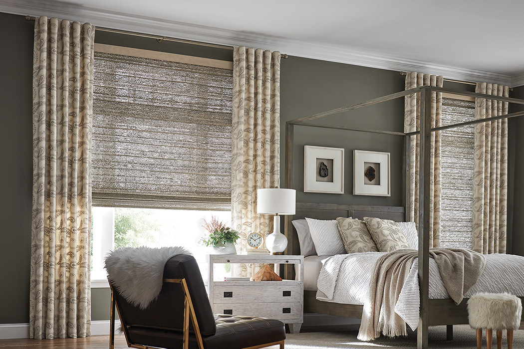 Natural Shade Flat Style with Drapery