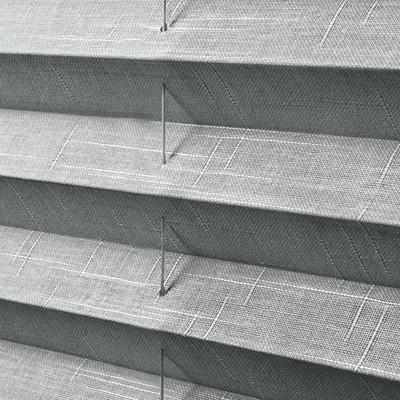 Pleated Shades (grey) Close-Up
