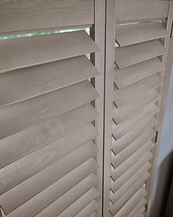 Wood Shutter Closeup Grey