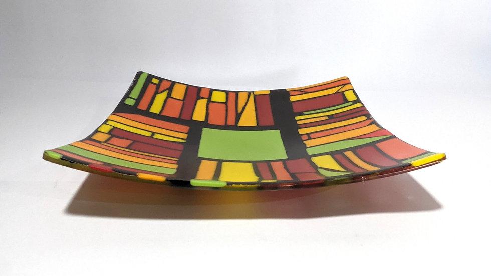 Retro Glass Plate