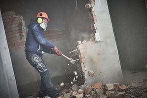 demolition work and rearrangement. worke