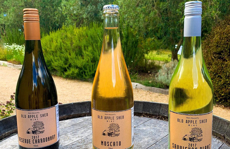 Reserve Chardonnay, Moscato and Sauvignon Blanc.