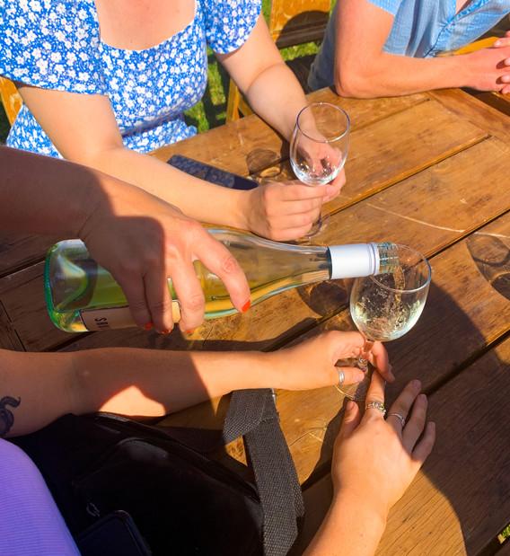 Wine tastings.